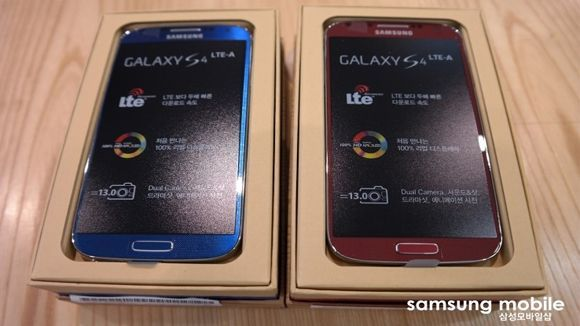 New photos show Galaxy S4 might be red and blue and 4G LTE-Advanced all over | Samsung continues its variation on a theme in leaked images of 4G LTE-Advanced Galaxy S4 models. Buying advice from the leading technology site