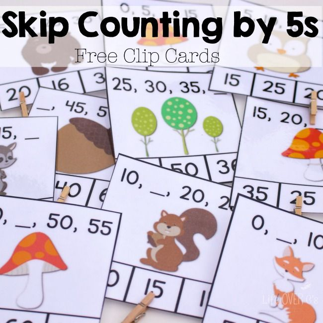 These Free Skip Counting By 5s Clip Cards Are A Great Way