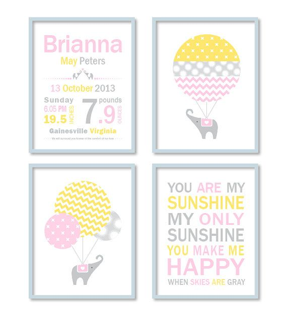 Birth stats Baby subway art Personalised by StrawberryJamStudio, $40.00