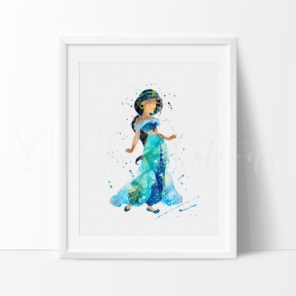 Princess Jasmine Disney Girl Nursery Art Print Wall Decor