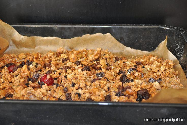 Fahéjas- kókuszos cukormentes házi granola