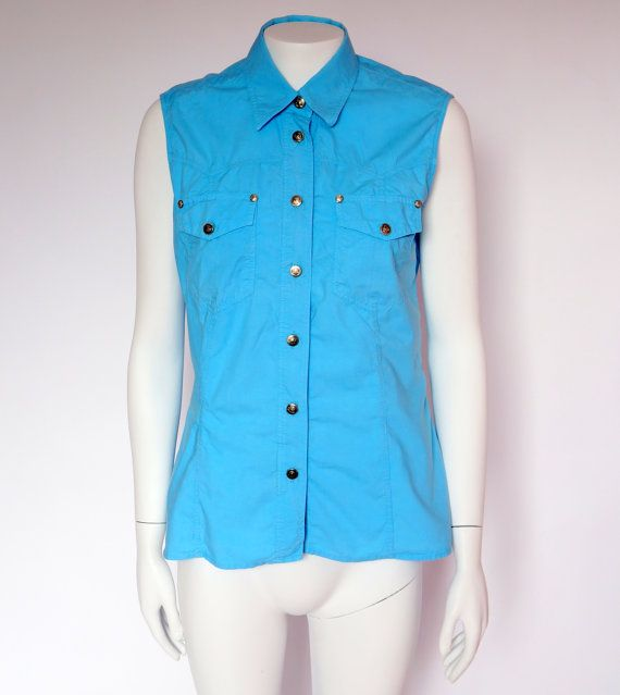Hello Im glad youre here VINTAGE PANDORA  I offer vintage VERSACE JEANS COUTURE vest AUTHENTIC ! 100% cotton Made in Italy silver buttons with