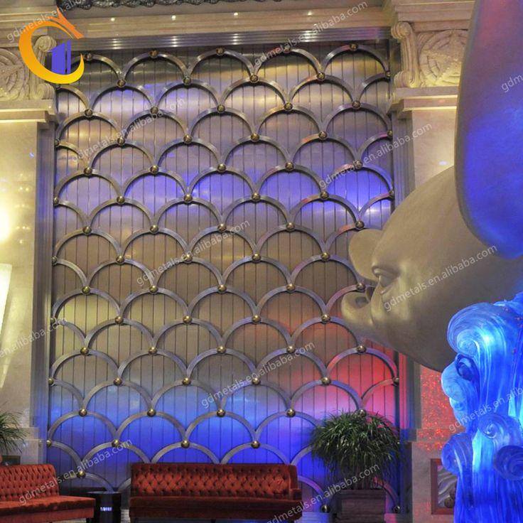 Interior decorative perforated metal wall panel