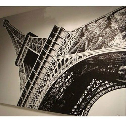New ikea eiffel tower picture photo with frame canvas for Ikea parati