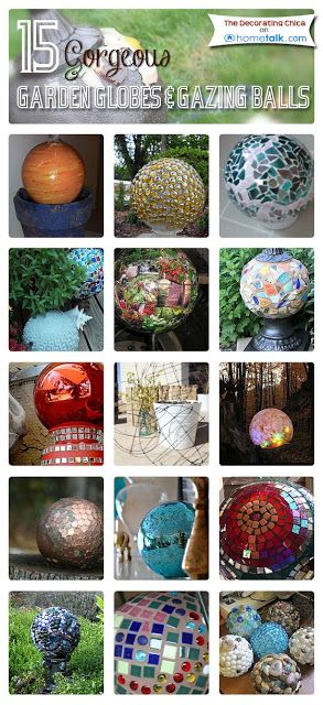 15 Gorgeous {Garden Globes  Gazing Balls} You Can Make Yourself! | curated by 'The Decorating Chica' blog!