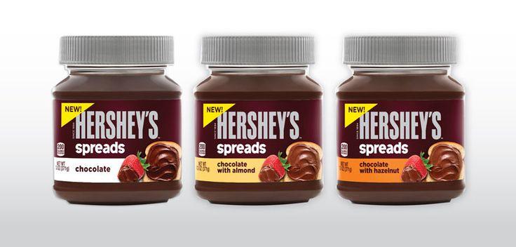 hershey's spread | Hershey's Chocolate Spreads - New Hershey's Products - Delish.com