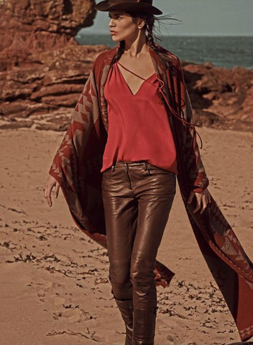 Amanda Wellsh by Mariano Vivanco for Vogue Russia - Chanel leather pants