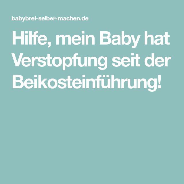 verstopfung baby beikost hausmittel