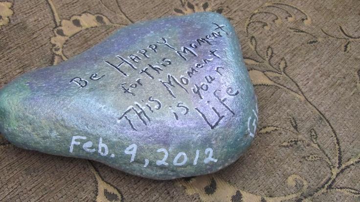 I painted this rock I found at glenedan beach