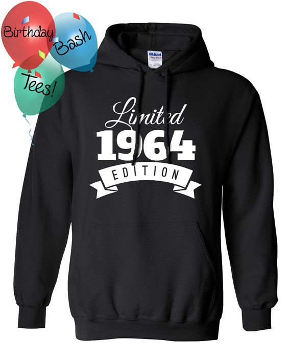 1964 Birthday Hoodie 52 Limited Edition by BirthdayBashTees