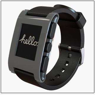 Wearable Tech. Pebble Smart Watch #stepjournal #lifelogging #wearables