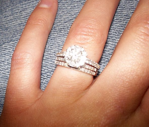 Awesome Halo Ring With Wedding Band Gallery Best Hairstyles in