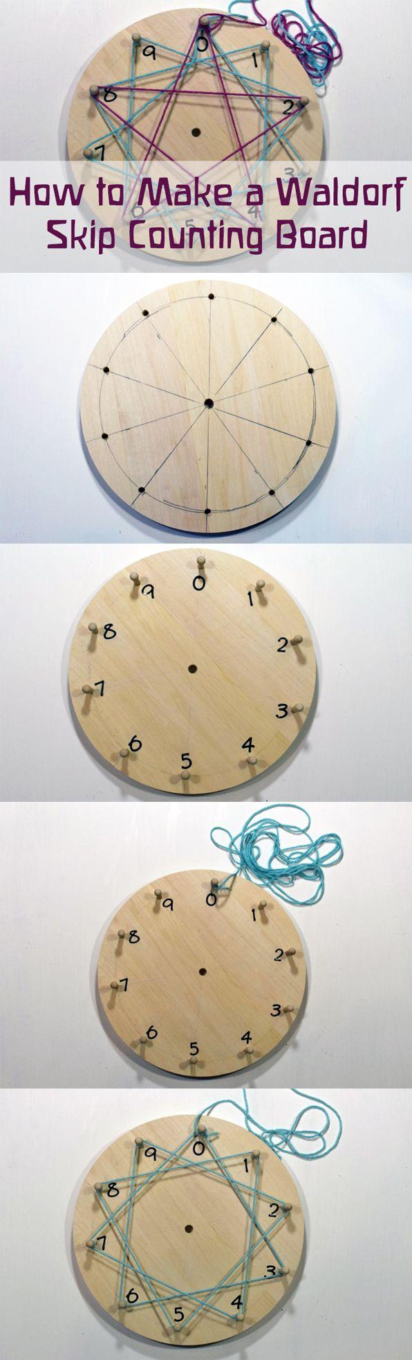 Cómo fabricar un tablero de multiplicaciones Waldorf