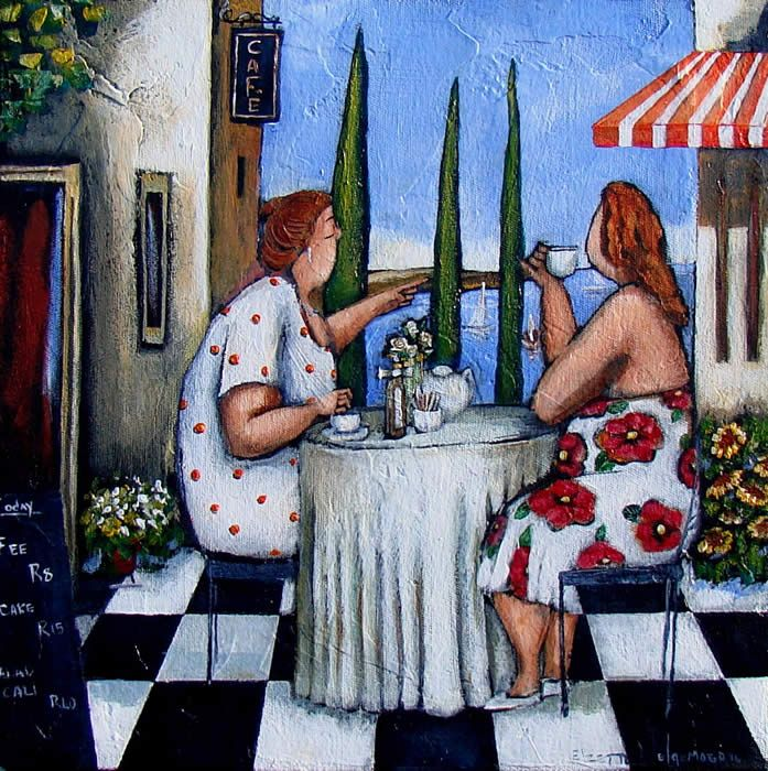 Elzette Welgemoed ~Tea at the Harbour Cafe
