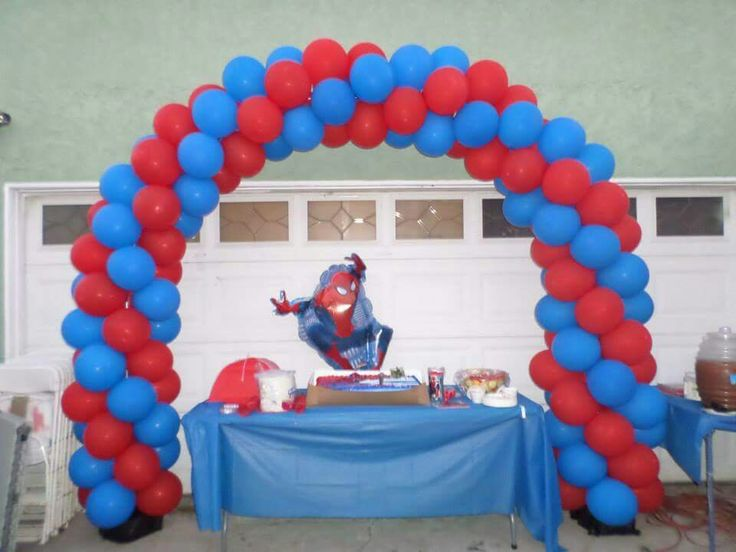 Spiderman balloon arch