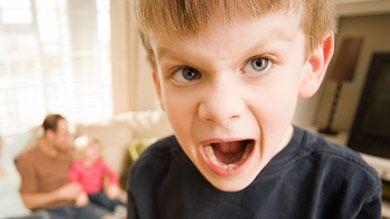 Faire face à un enfant contrarié