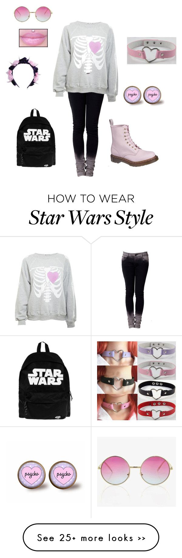 """""""Pastel Goth #4"""" by thealmightyoverteen on Polyvore"""