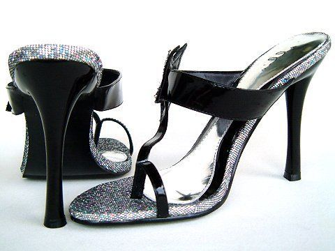 zehensteg high heels | Mules - 457Star - black - High Heels Shop by FUSS Schuhe ...