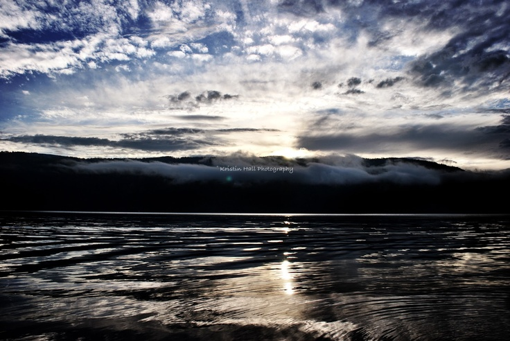 A Perfect Sunset on the Shuswap Lake  Sicamous, British Columbia  Photo by Kristin Hall Photography  All Rights Reserved 2013 by Kristin Hall
