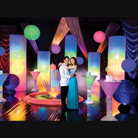 true colors complete theme the perfect party for prom 2016 looking for colorful ideas - Colors For Prom