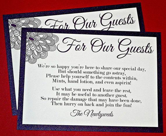 PRINTABLE SIGN/ Wedding Bathroom Basket by MySentimentsInvites