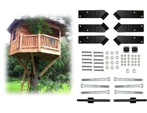 An example of a 12' Octagon Treehouse hardware Kit