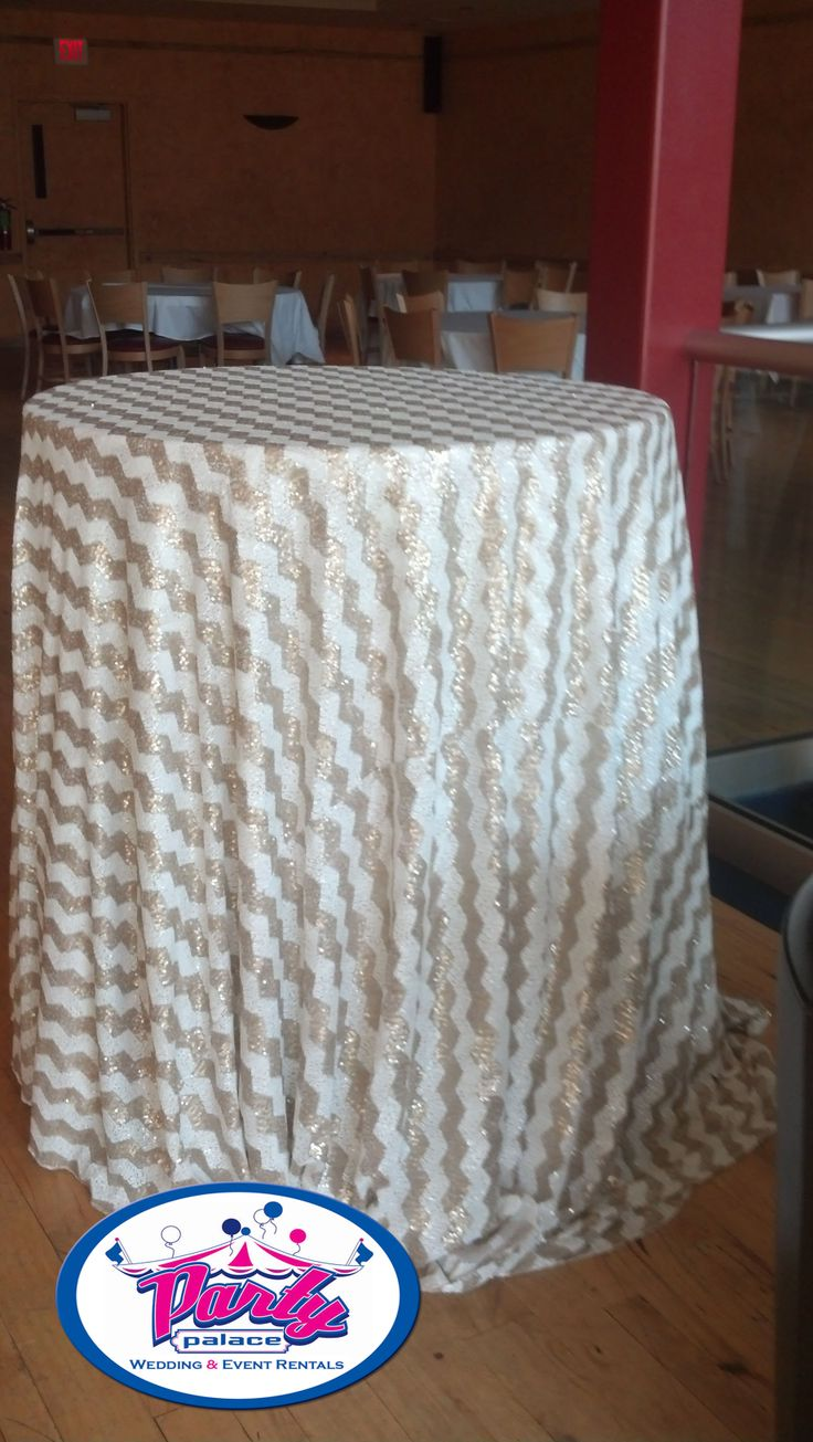 120 chevron gold white sequin tablecloth linen rentals for 120 table cloth rental