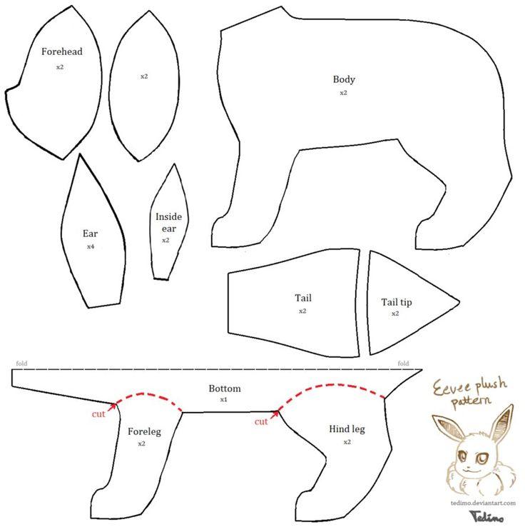 Free Eevee Plush Pattern NEW by Tedimo on deviantART
