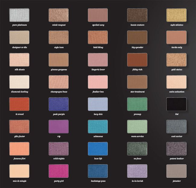 Buxom Customizable Eyeshadow Bar Palette Colors