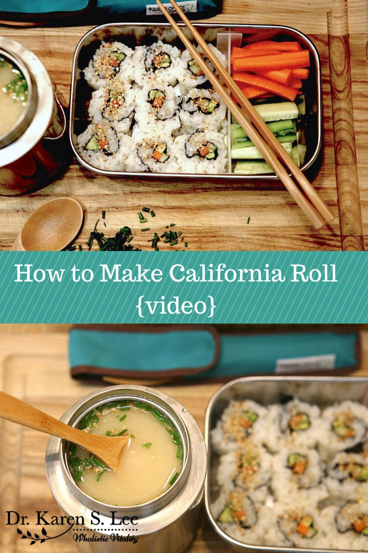 how to make california rolls video