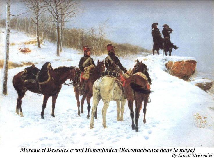 Moreau et Dessoles avant Hohenlinden (reconnaissance dans la neige)