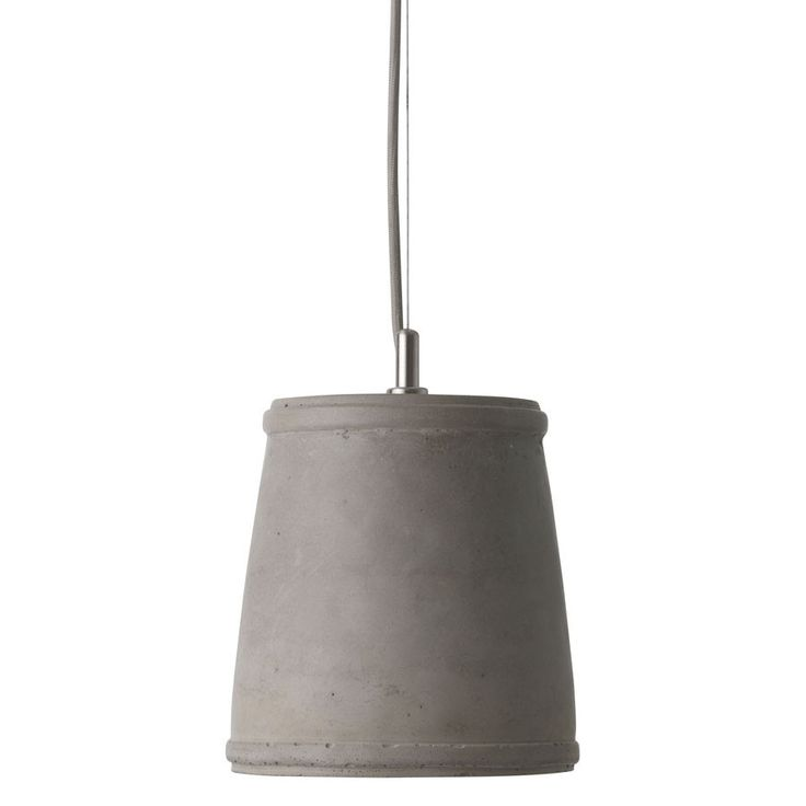 Concrete Pendant Lamp Pail – Black Mango