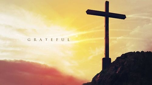 so grateful...that Jesus paid the price...took my punishment...so I can be free.
