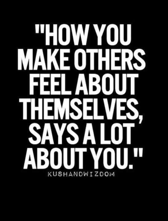 Behavior and words are contagious. Make sure your words and actions are good.
