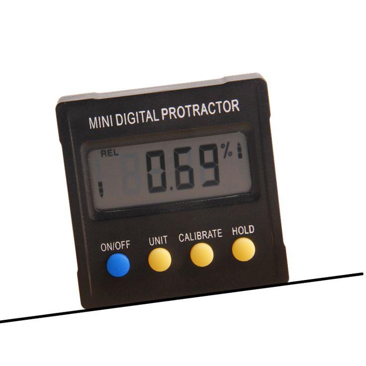 Digital Goniometro 4x90 Gradi Scatola Elettronica Indicatore di Livello Inclinometro Base Magnetica Strumento di Misura