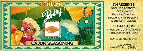 Hawaii Maui Value Pack Tutu's Pantry Cajun Seasoning 12 Jars - http://spicegrinder.biz/hawaii-maui-value-pack-tutus-pantry-cajun-seasoning-12-jars/