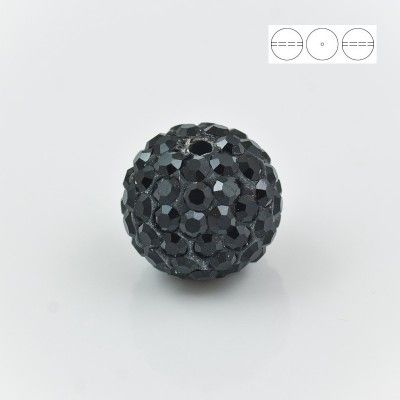 Discoball Bead 12mm Jet  Dimensions: 12mm Stones which were used in a ball are from Preciosa Company  1 package = 1 piece