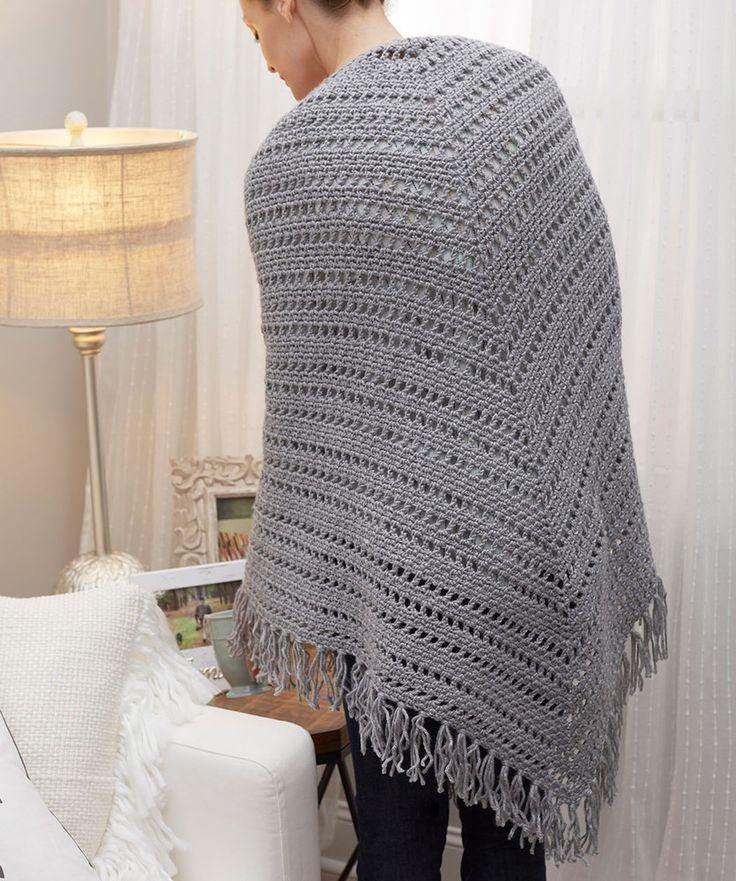28 besten Free Crochet Shawls Bilder auf Pinterest | Ponchos, Stolen ...