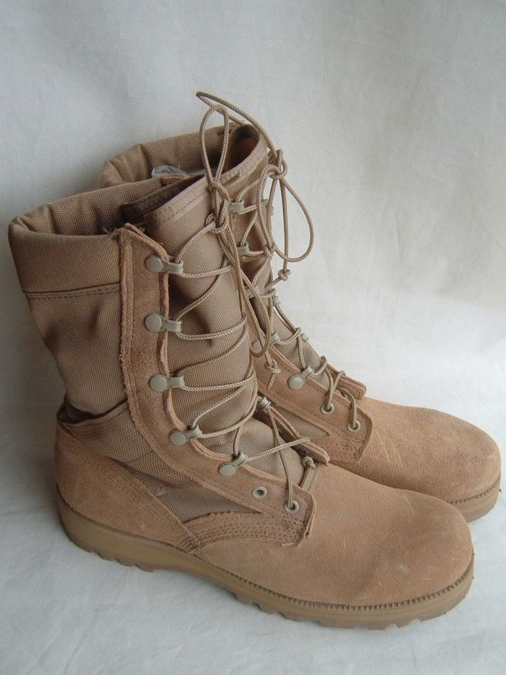 U.S. Army Hot Weather Desert Combat Boots,Size 8 1/2 R, 27196 J 9-03, Tan #Vibram #DesertCombatBoots