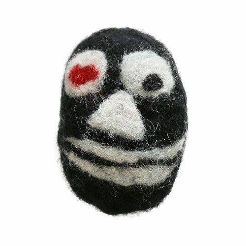 Halloweenske strašidlo – čierny úsmev