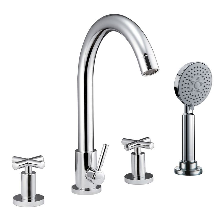 CAE 0517 Double handle contemporary bathtub faucet with shower handle / Cheaper option.