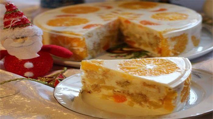 Цитрусовый желейный торт «Новый год» http://bigl1fe.ru/2016/12/08/tsitrusovyj-zhelejnyj-tort-novyj-god/