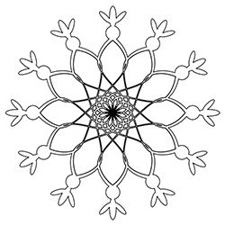 Snowflake Coloring Page 6
