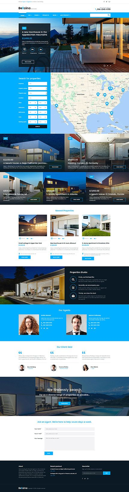 Real Estate Agency #Wordpress #template. #themes #business #responsive…