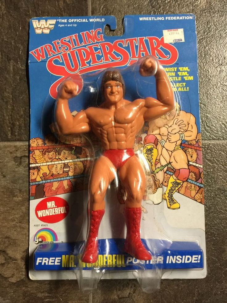 WWF LJN Mr. Wonderful Paul Orndorff MOC Wrestling Figure #LJN