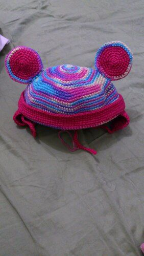 Mickey Mouse Rainbow Hat Material : Japanese Cotton Yarn