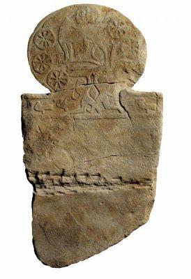 Stele delle spade, arenaria; tomba 7 di Marano di Castenaso (BO), necropoli villanoviana