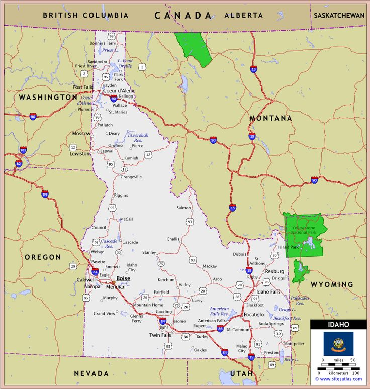Best Idaho Images On Pinterest Idaho The State And - Physical map of idaho