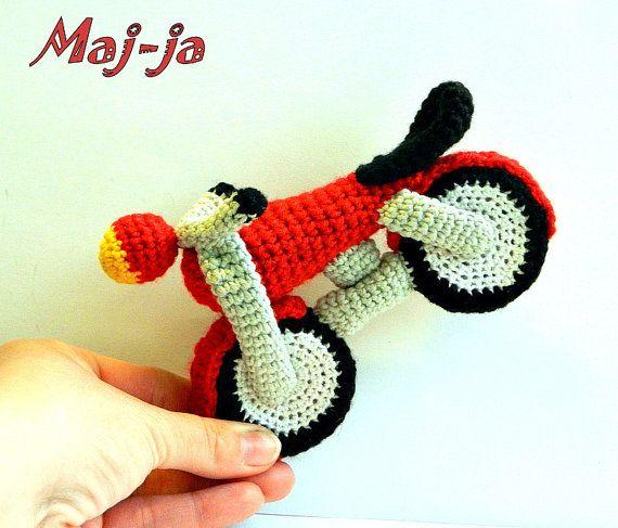 MotorBikeAmigurumi Crochet toy  MotorCycle  by MajjaCrochet