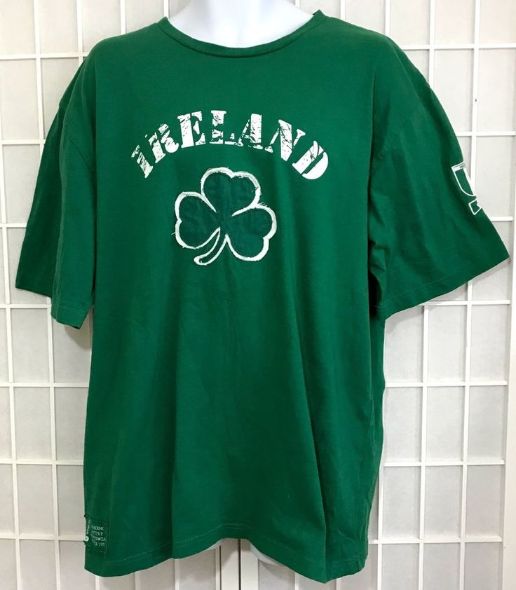 Donegal Bay T Shirt XL Ireland Rugby Sewn Shamrock Patch Celtic Isle Flag #DonegalBay #Tshirt